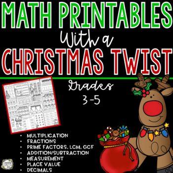 Christmas Math No Prep Christmas Math Worksheets Math Worksheets