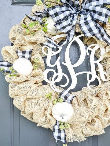 Photo of SCHÖNER FALL BURLAP WREATH DIY – StoneGable