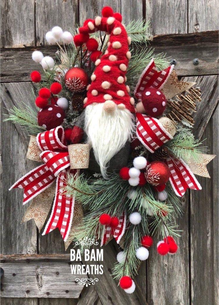 Christmas Wreath-Winter Wreath-Holiday Door Wreath-Winter Home Decor-Christmas Wreath-Holiday Home Decor-Front Door Wreath Housewarming