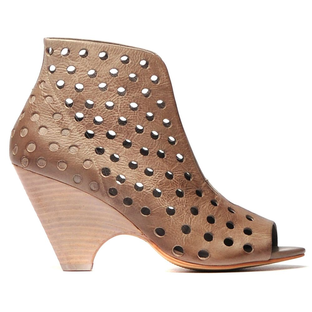 BEAN by DJANGO & JULIETTE. Unique heel featuring a unique punched leather,  a sexy