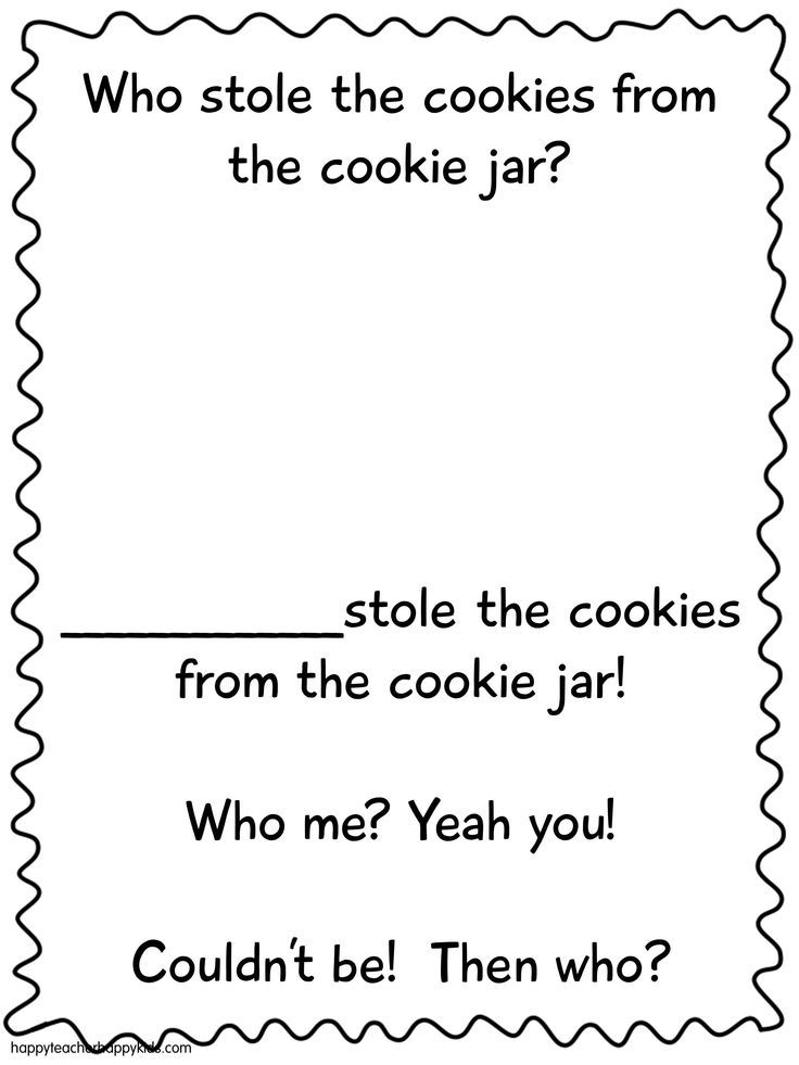Who Stole The Cookie From The Cookie Jar Book Beauteous Who Stole The Cookie From The Cookie Jar Make A Class Book For