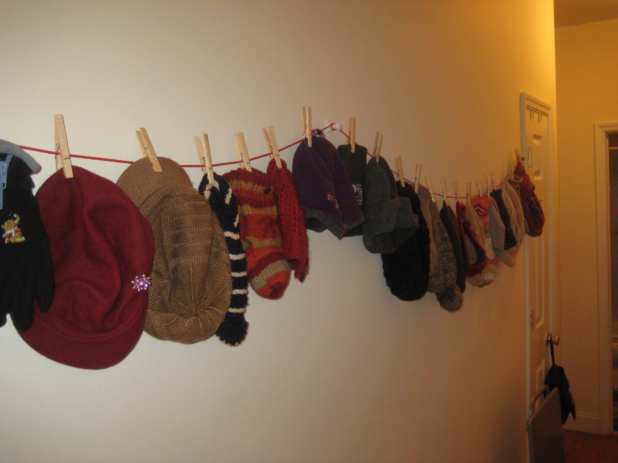 Quick Storage For All My Winter Hats And Gloves Winter Gear Organization Hat Storage Coat Closet Organization