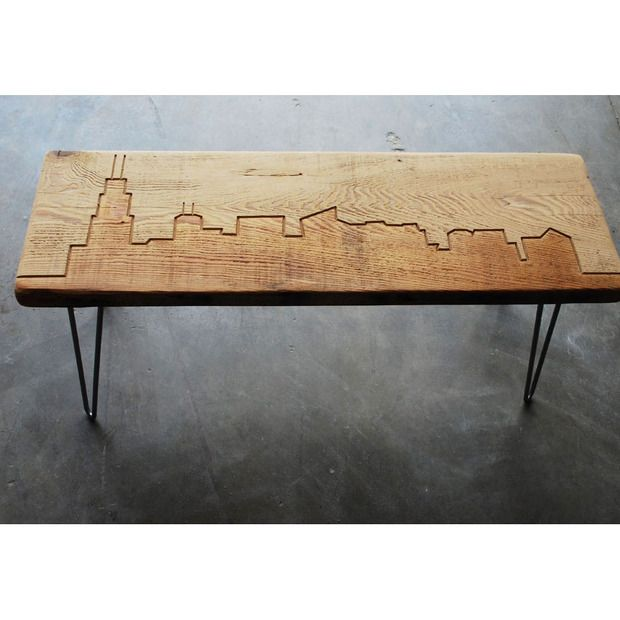 Chicago Reclaimed Wood Bench Furniture Design Pinterest - Reclaimed wood coffee table chicago