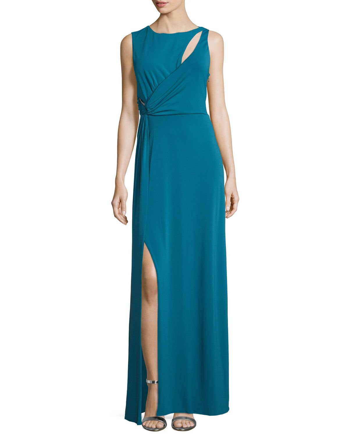 Sleeveless slash detail column gown atlantic halston heritage shop sleeveless slash detail column gown atlantic from halston heritage at neiman marcus last call where youll save as much as on designer fashions ombrellifo Image collections