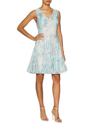 Sum Leo Print Fit And Flare Dress