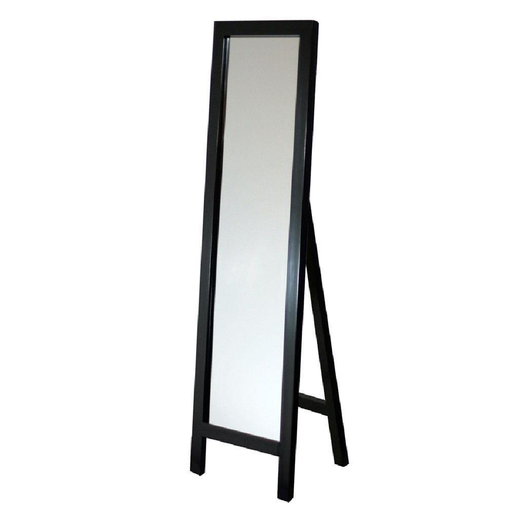 Deco Mirror 18 In X 64 In Single Easel Floor Mirror In Espresso