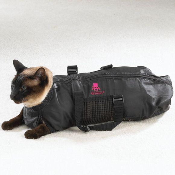 見た目が超シュール ニャンコを安全 安心にお手入れできる多機能バッグを見つけたなり ペットのグルーミング ペット用品 ペット