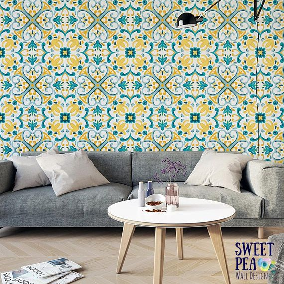 We Love Moroccan Tiles, So Weve Created A Wallpaper Thats Inspired By The  Look. Made Modern With A Big Size And Fresh Colors, This Print Is Perfect  For An ...