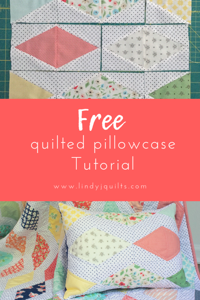 Quick Quilted Pillowcase Tutorial Lindy J Quilts Pillow Cases Tutorials Quilt Pillow Case Quilted Pillow Covers