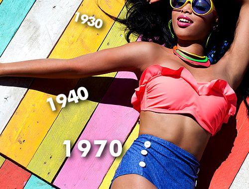 Moda plażowa, jak zmieniały się kostiumy kąpielowe przez lata, stroje kąpielowe