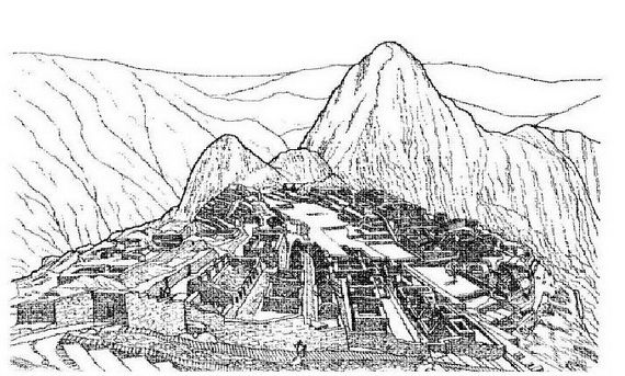 Coloring Pages For Ancient Wonders Of The World Inca Tattoo