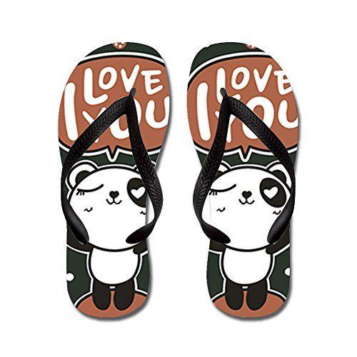 JKYUKO I Love You Panda flip flops Adults MBlue * Want additional info? Click on the image.