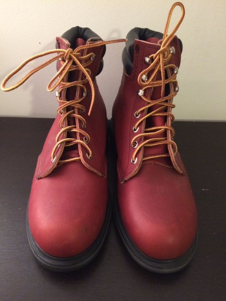 1240740940a Details about Womens 8 B M Red Wing USA Brn Leather Steel Toe Ankle ...