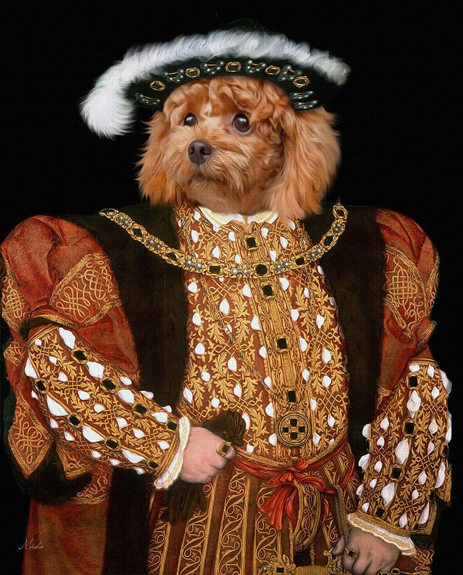 Historical custom pet portrait,Custom Pet Portrait