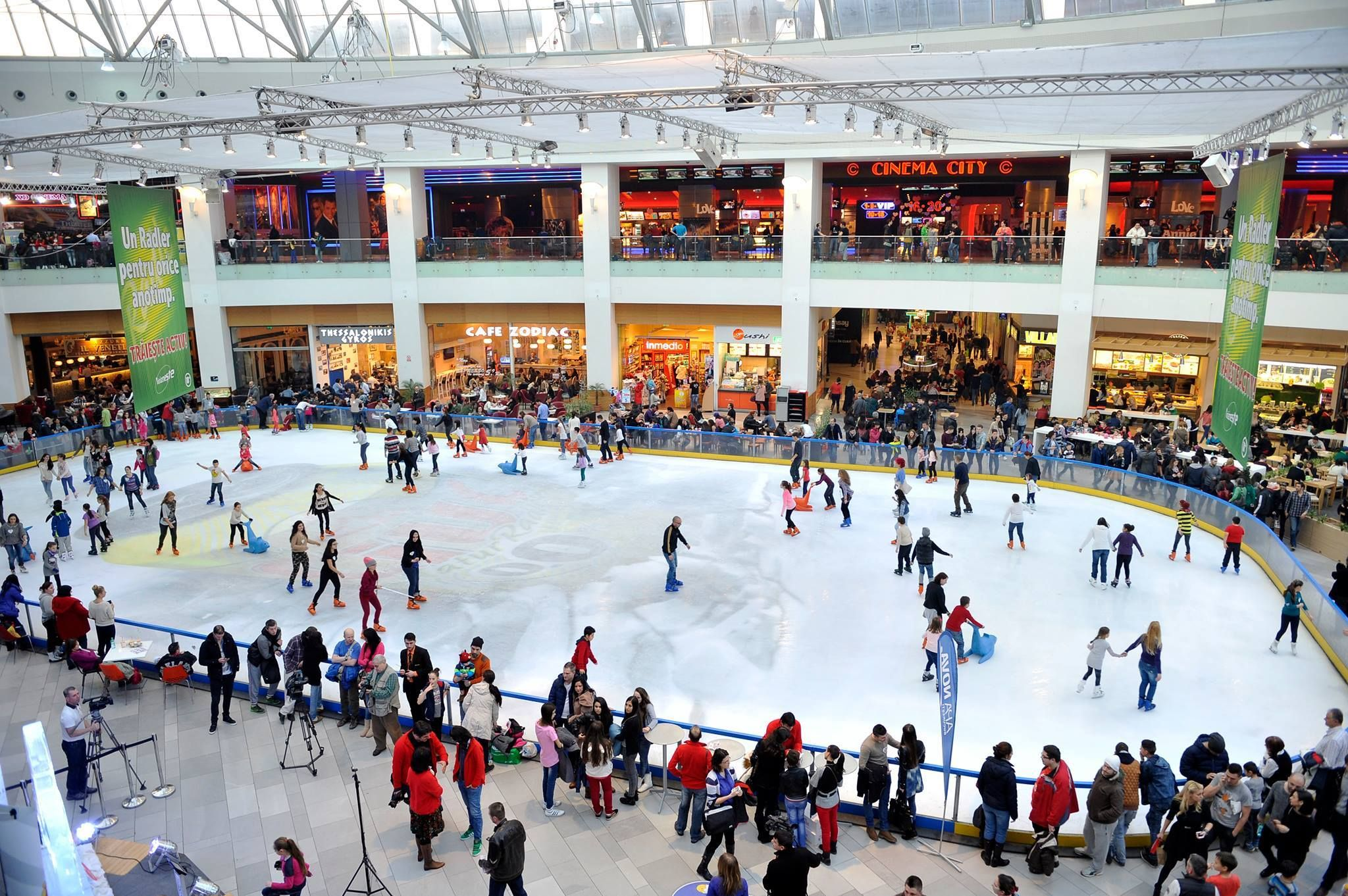 permanent ice rink built by ice business in afi palace cotroceni