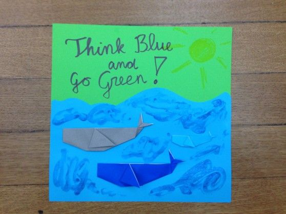 Making inspirational posters on water pollution is a fun for Inspirational art project ideas