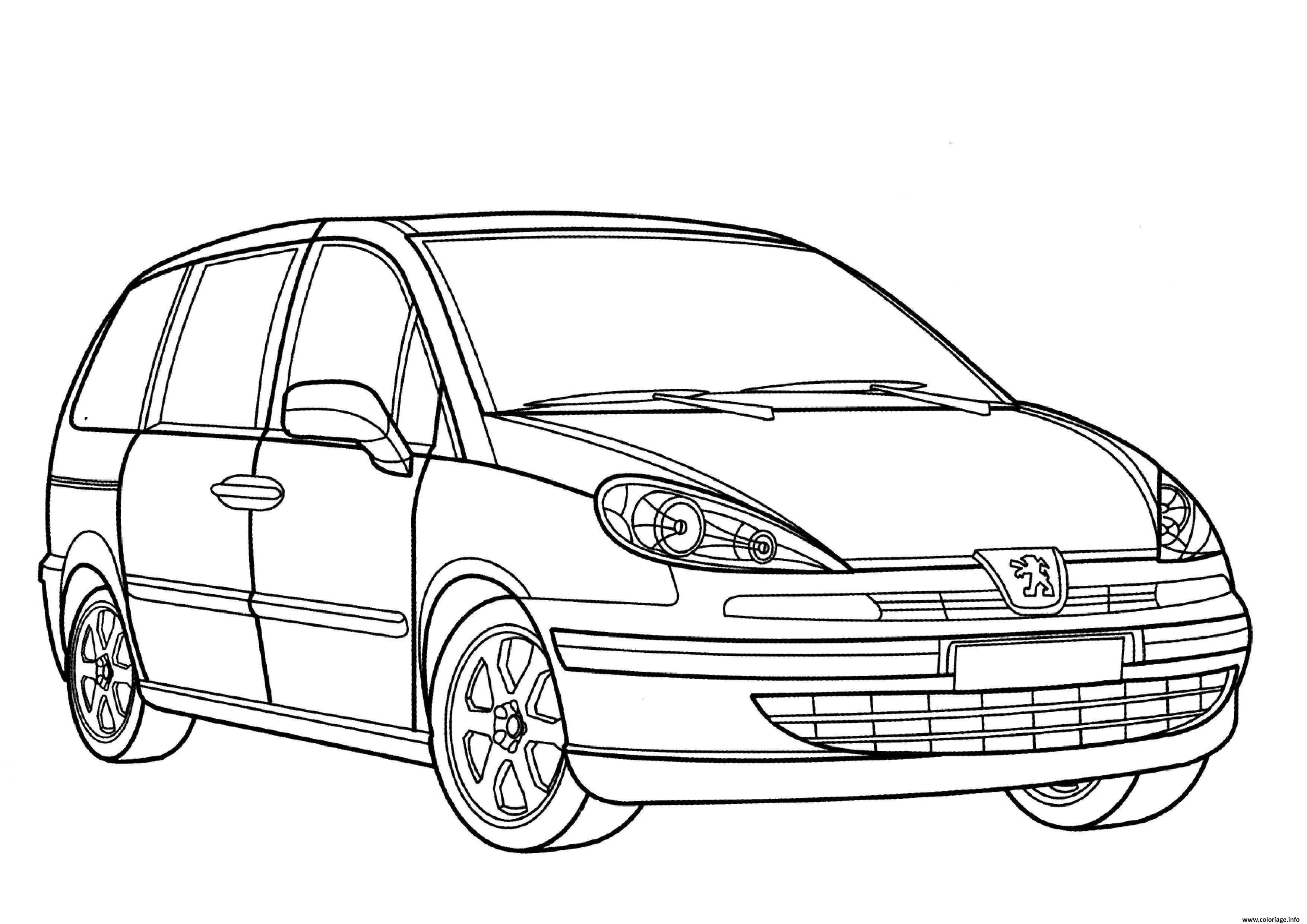 Coloriage Voiture Peugeot 807 Dessin à Imprimer (avec ...