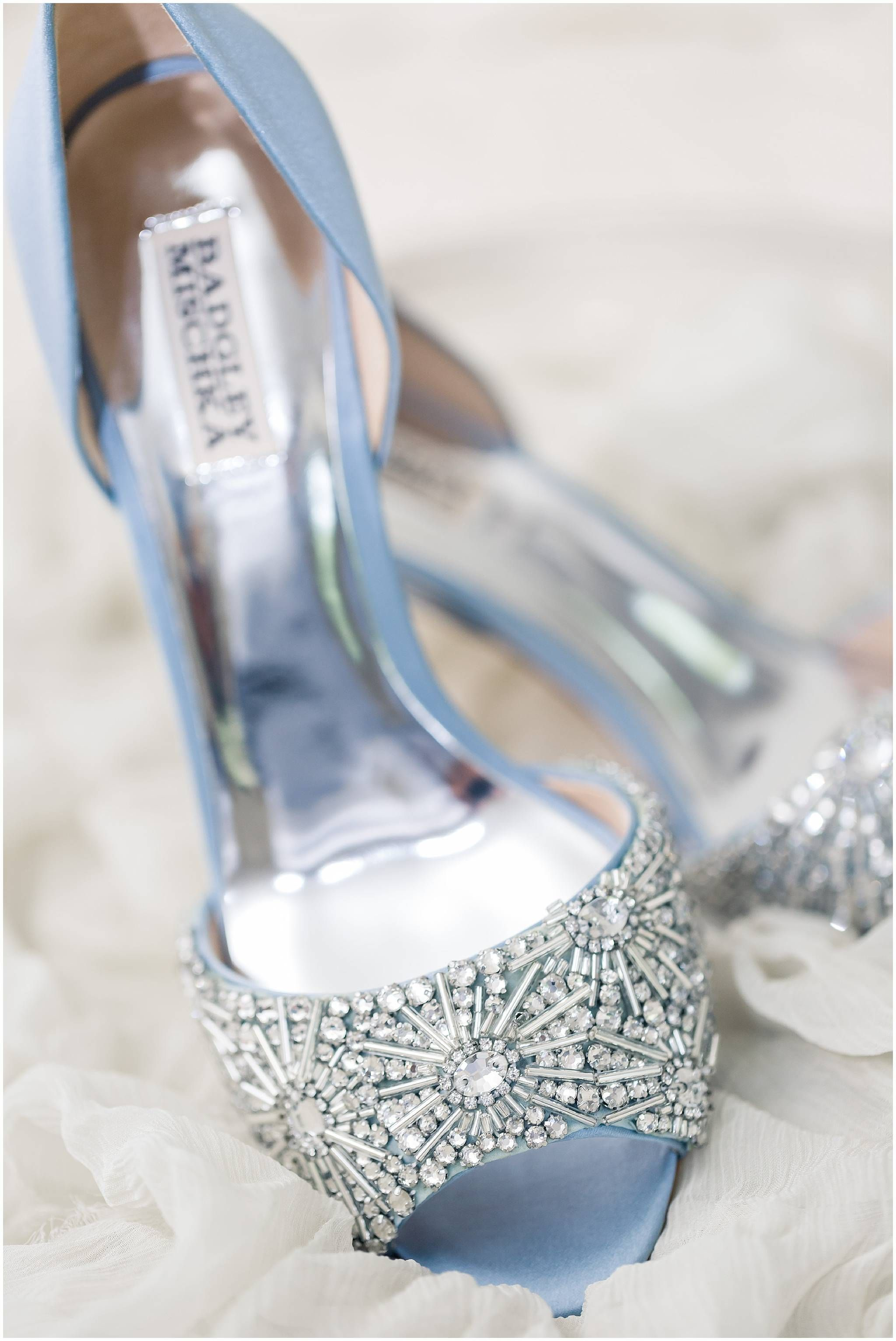Blue Badgley Mischka Wedding Shoes Bride Shoes Blue Heels Sparkle Canon 100mm Macro Photographing The Rings White Wedding Shoes Wedding Shoes Bride Shoes