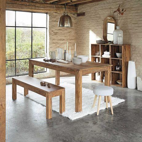 mesa de comedor de madera de maciza de palo rosa an. 180 cm