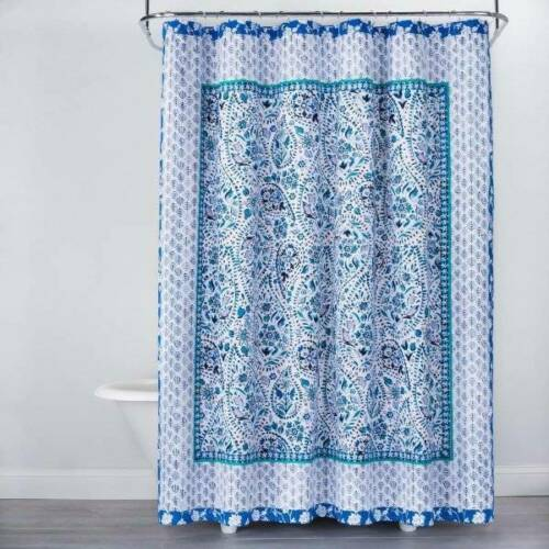 Details About Opalhouse Bandana Print Shower Curtain 72x72 White