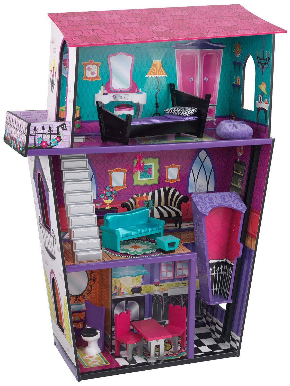Amazon Kidkraft Girl S Monster Manor Dollhouse With