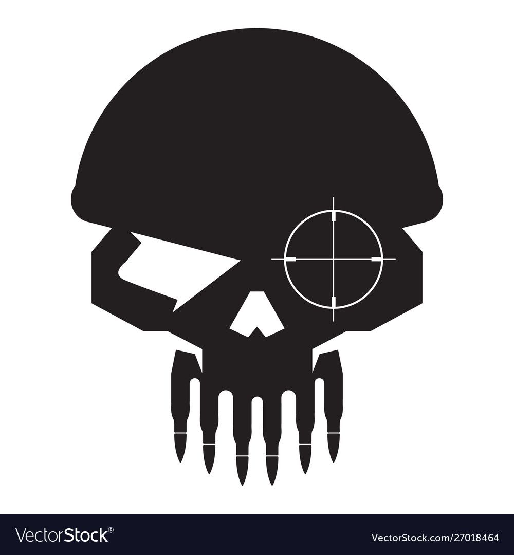Skull Military Sniper With Bullet Teeth Logo Icon Vector Download A Free Preview Or High Quality Adobe Illustrator Ai Eps Camo Stencil Logo Icons Teeth Logo
