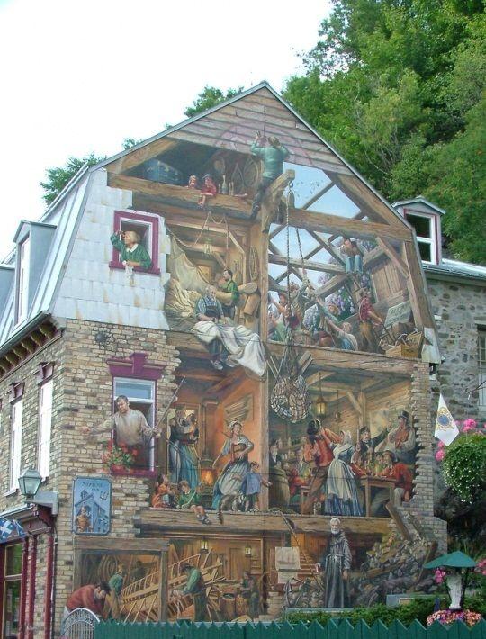 tromp l 39 oeil mural in quebec streetart pinterest. Black Bedroom Furniture Sets. Home Design Ideas