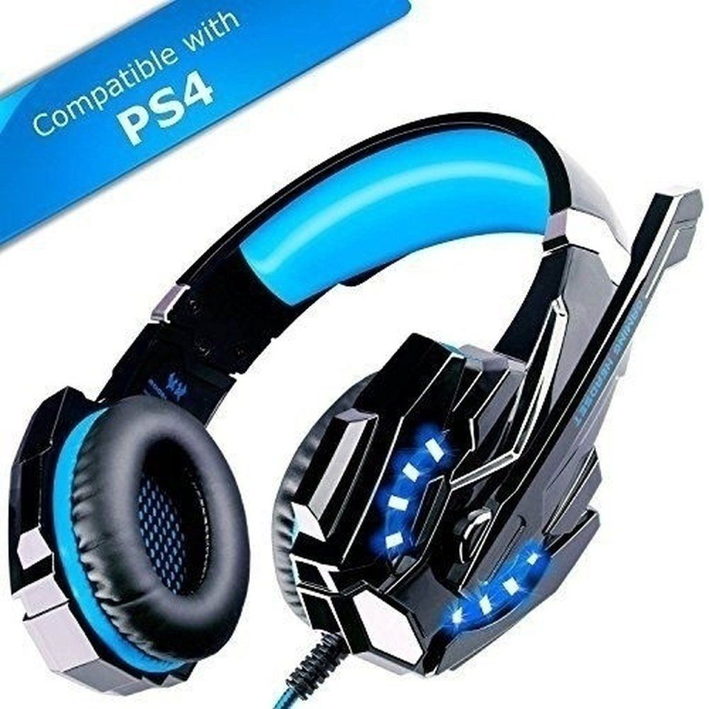 3 5mm Mic Led Gaming Headsets Headphones Stereo Surround For Cell Phone Ps4 Xbox Color Bule Red Best Gaming Headset Ps4 Headset Gaming Headphones
