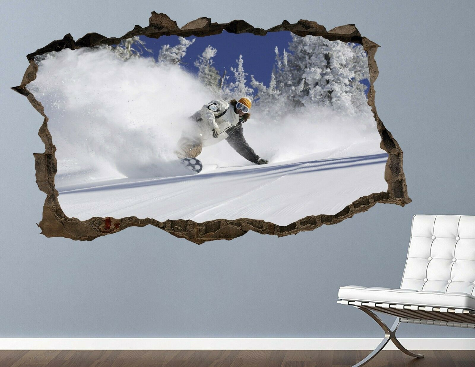 Photo of Snowboard Maneuvers wall decals stickers mural home decor for bedroom Art AH661 – Medium (Wide 30 x 18 Height)