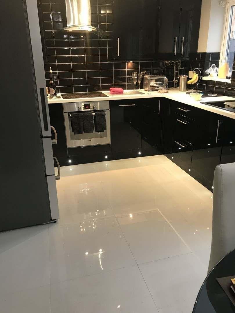 Extreme white polished porcelain floor tiles in 2020