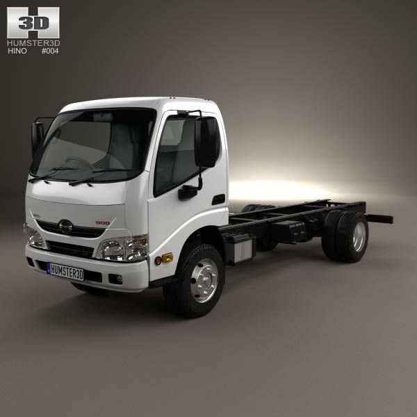 Hino 195 Hybrid Box Truck 2012 3d Model From Humster3d Com: Hino 300-616 Chassis Truck 2011 3d Model From Humster3d