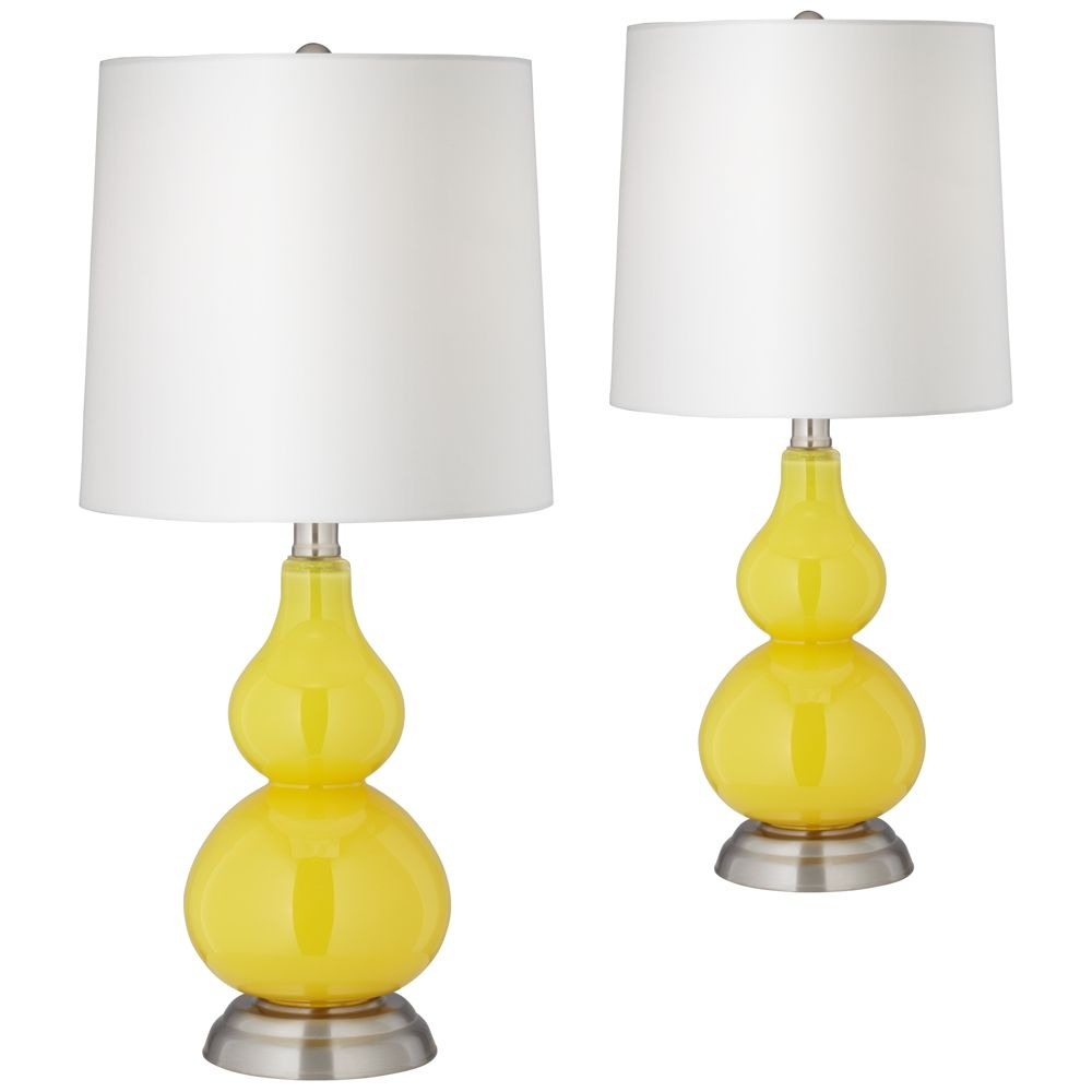 citrus yellow small gourd accent table lamp set of 2 style y7580 rh pinterest co uk