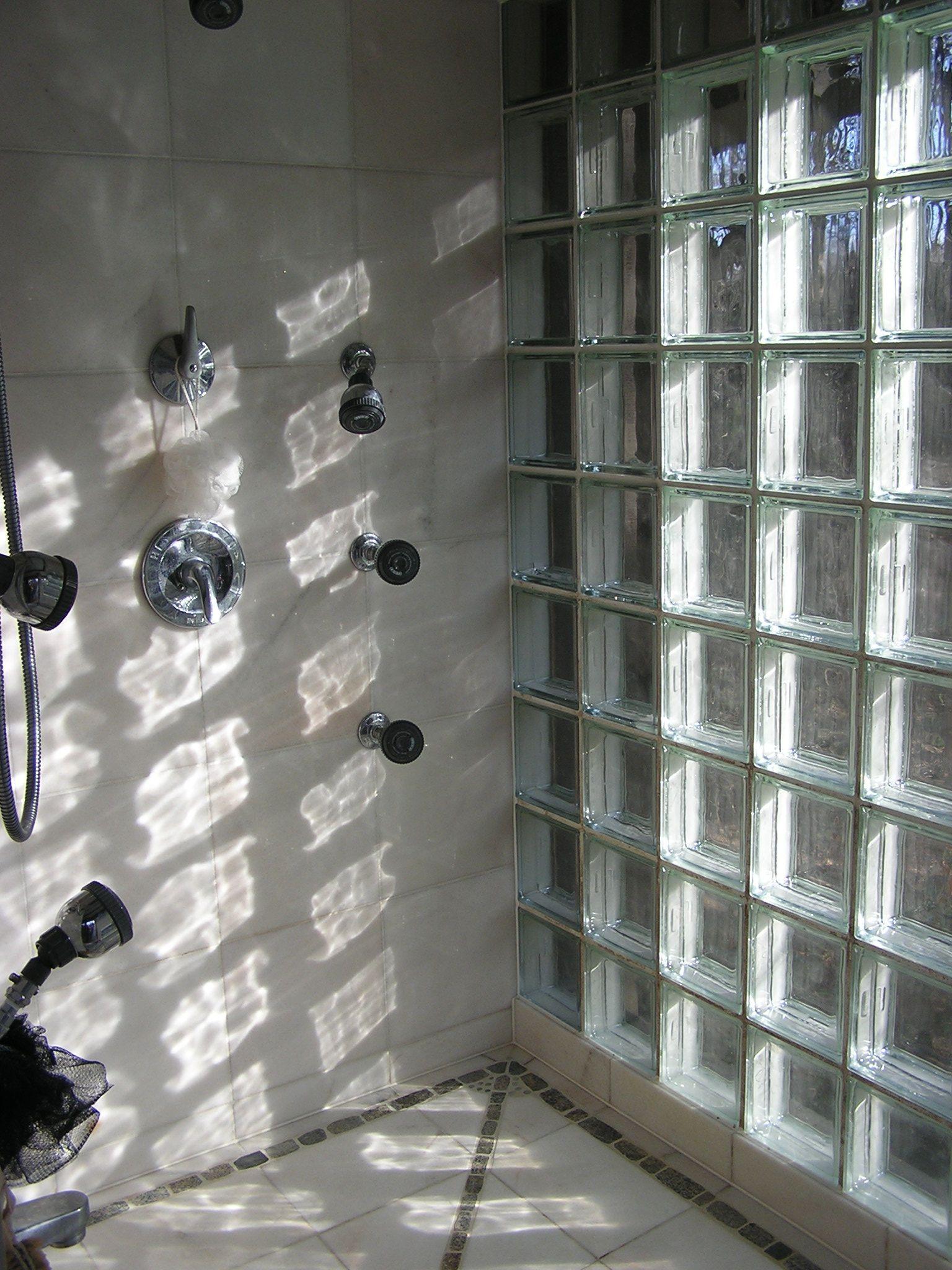 glass block showers glass block shower