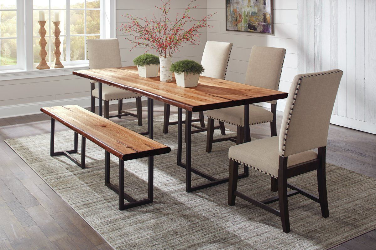 Live Edge Dining Table Side Chairs Dining