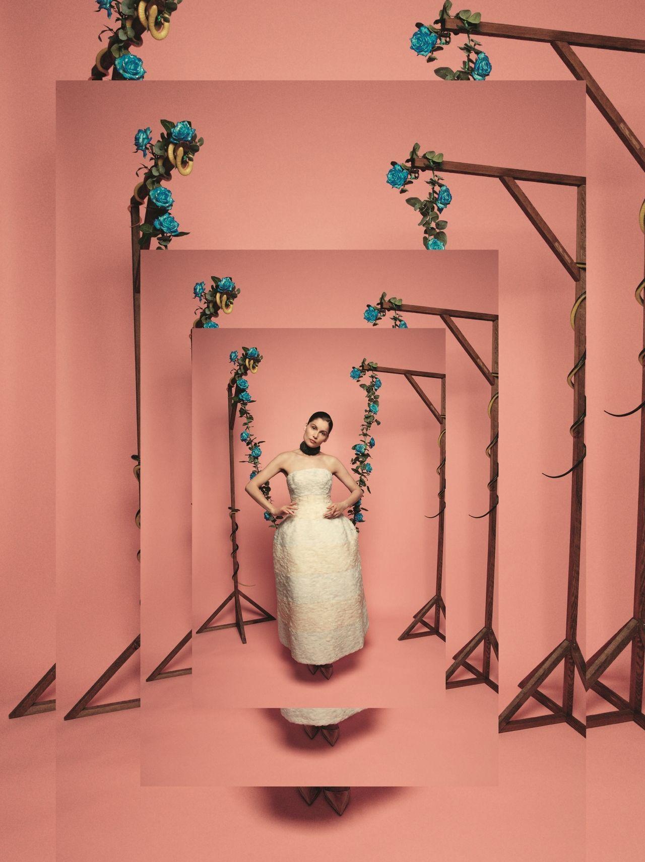 Laetitia Casta wearing Dior Haute couture par Raf Simons  Tar Magazine - Fall 2012 photographer: Yelena Yemchuk