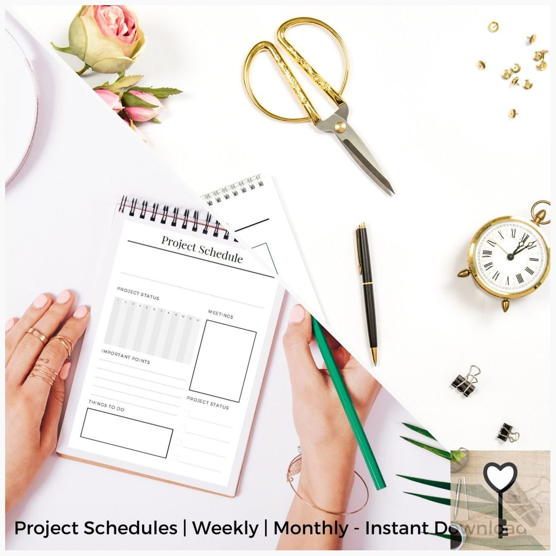 Business Planner Project Schedules Weekly Monthly Instant