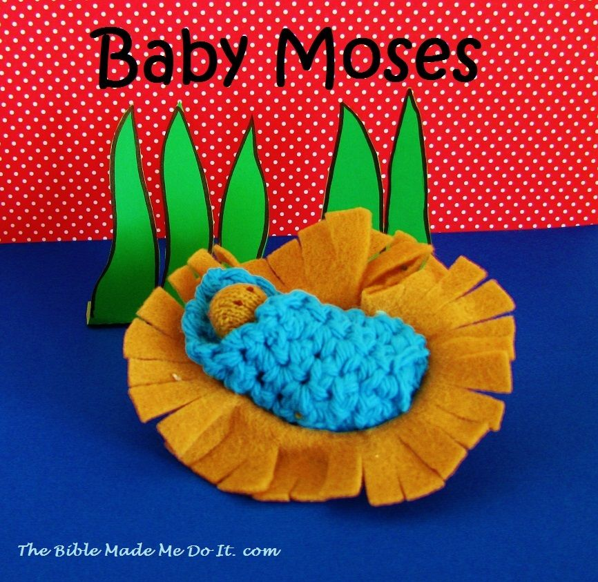 MOSES IN FELT BASKET – The Bible made me do it!