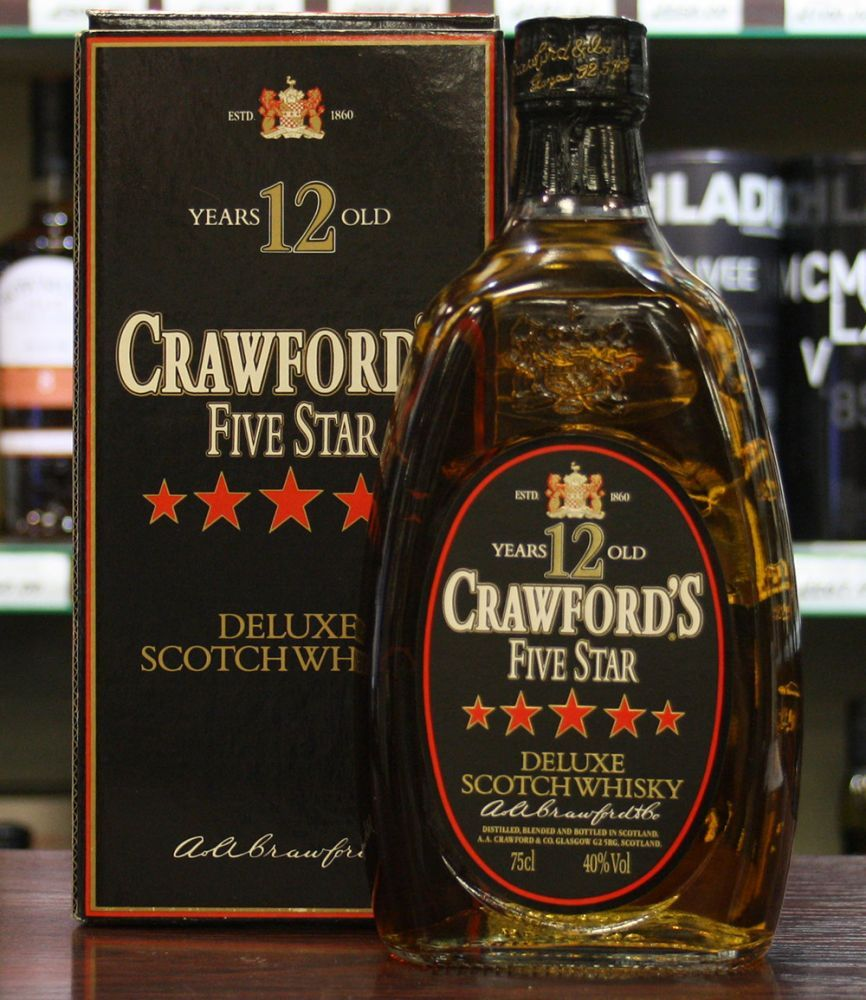 Crawford S Five Star 12 Year Old Whisky Whisky Galore Whisky Oldest Whiskey Crawford