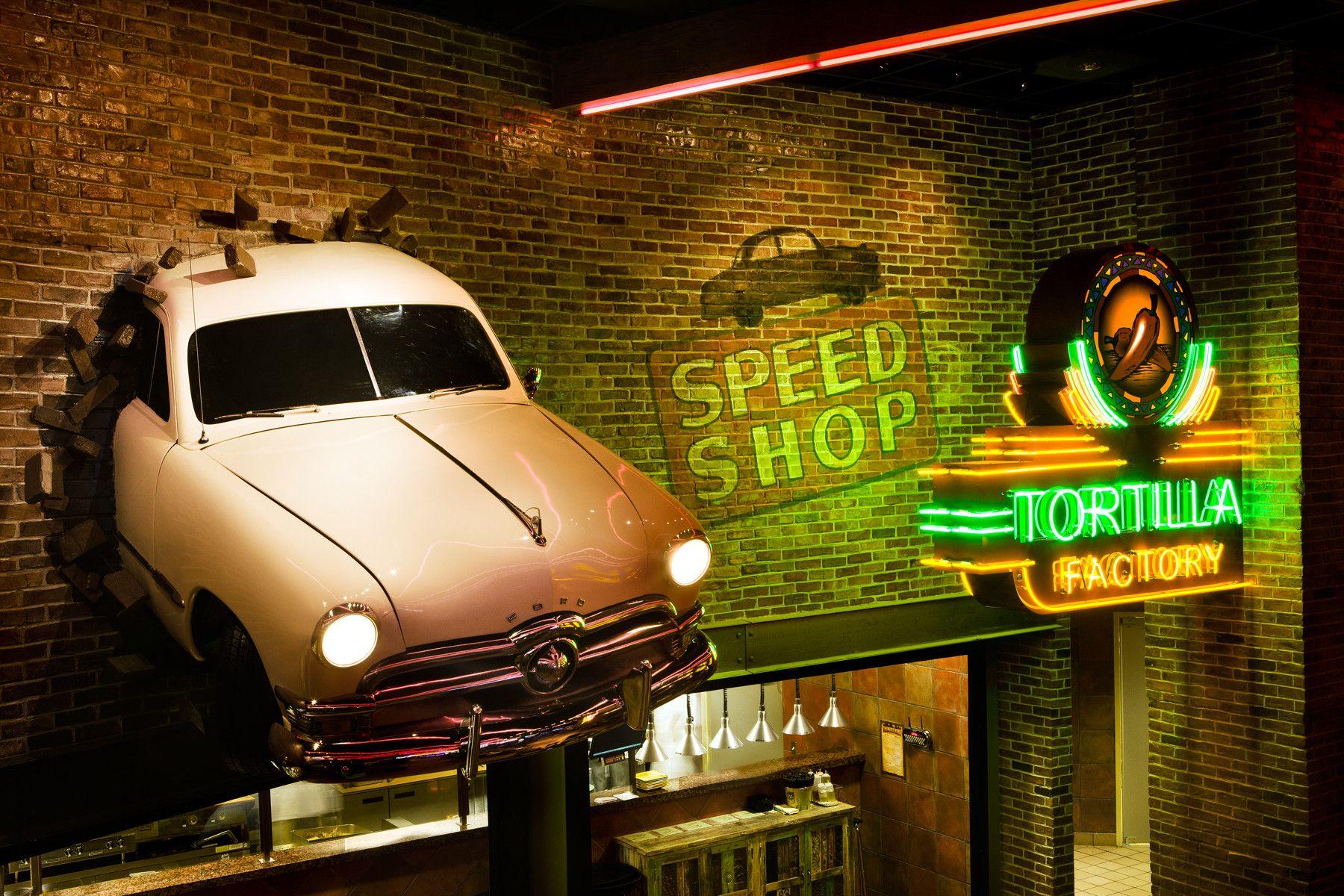 Casino restaurant design thunder road custom car decor - Car exterior decoration accessories ...