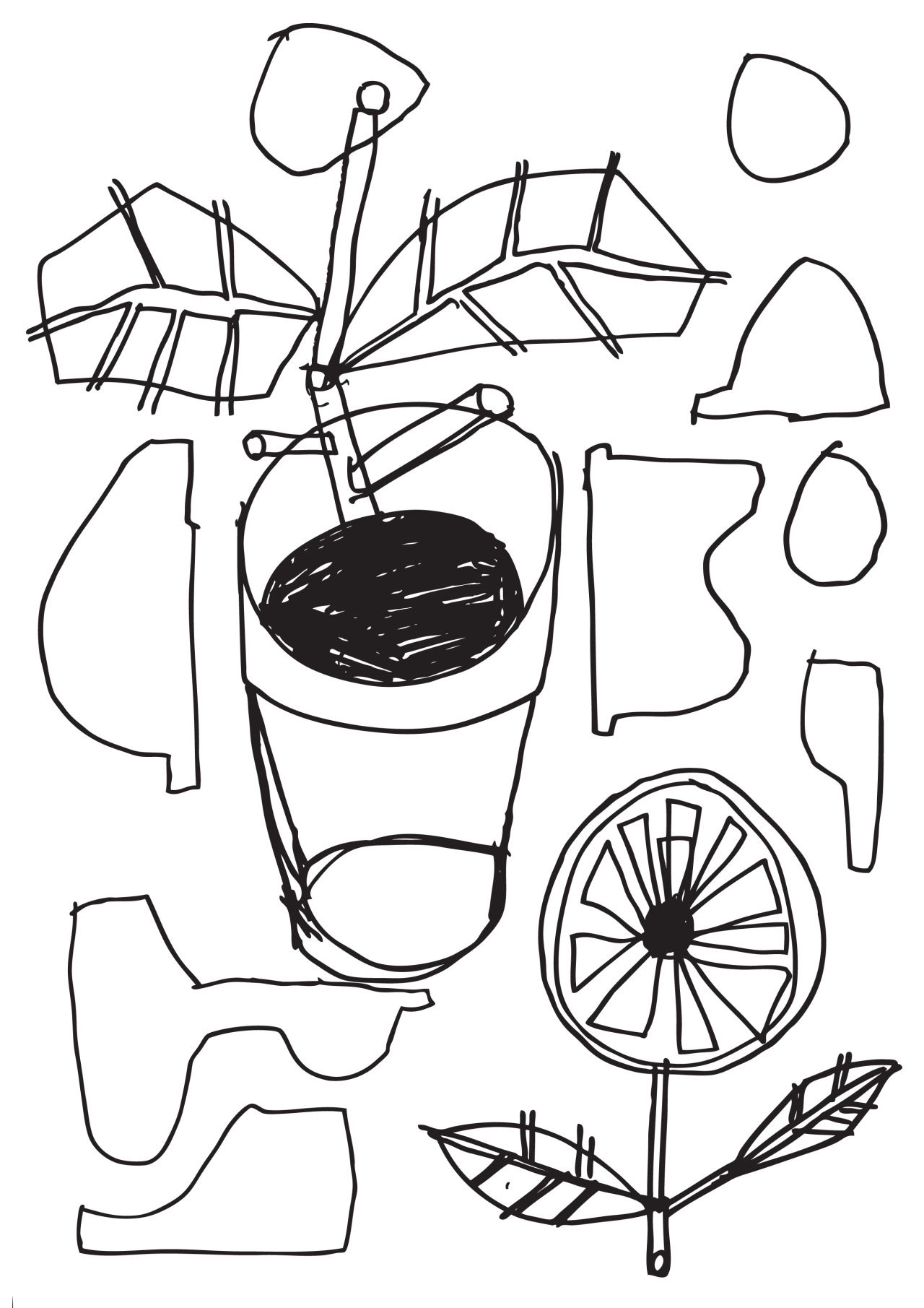 pot plant  hausblok co uk  illustration  plants  drawing