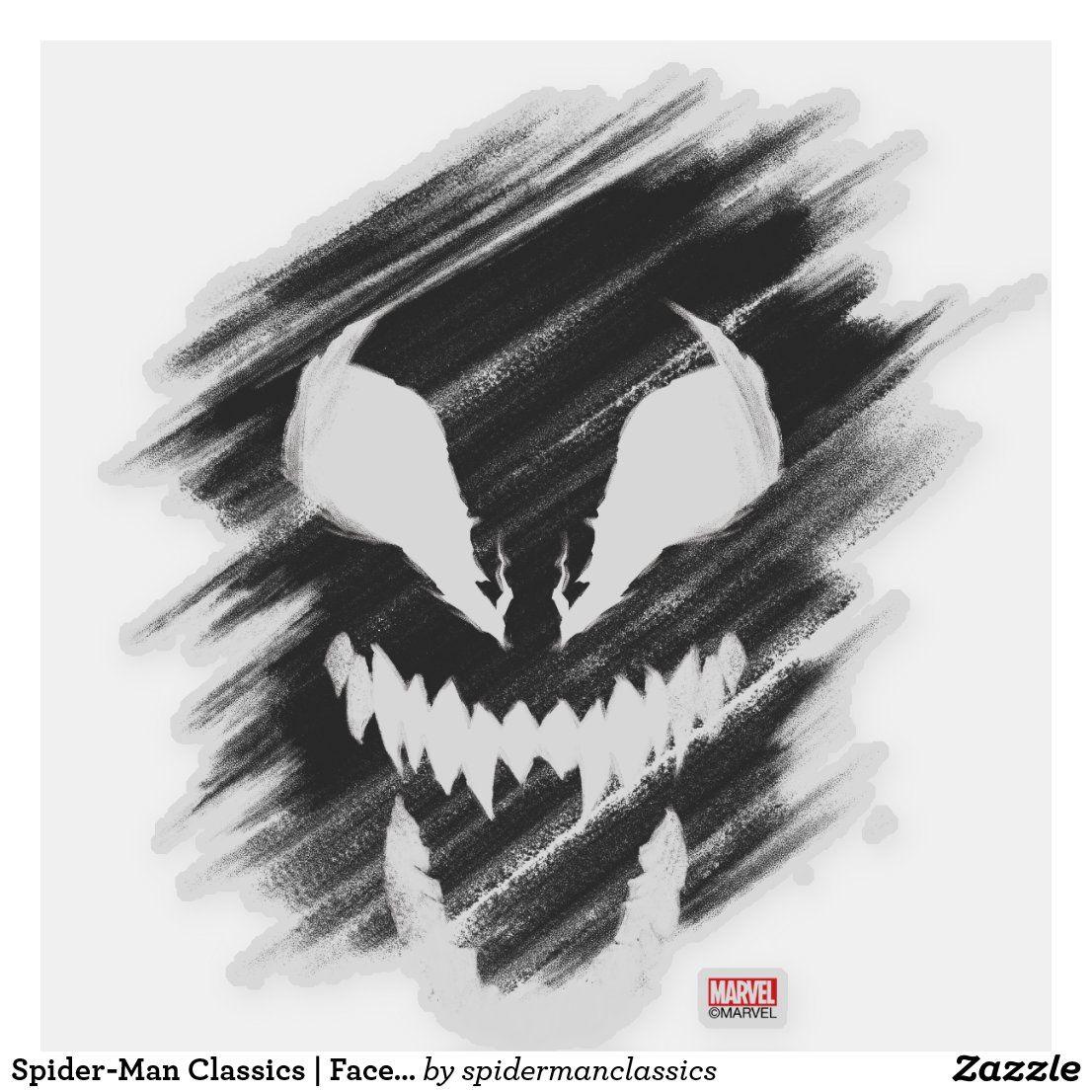 Spider Man Classics Face Of Venom Sticker Zazzle Com In 2021 Graphic Eyes Disney Sticker Spiderman [ 1106 x 1106 Pixel ]