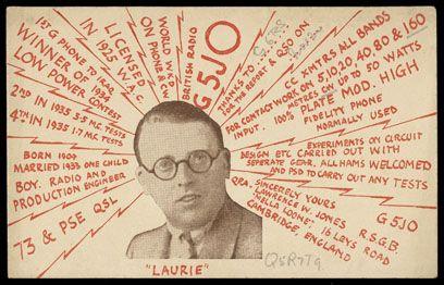 """Laurie"" QSL card - Ham radio QSL cards"