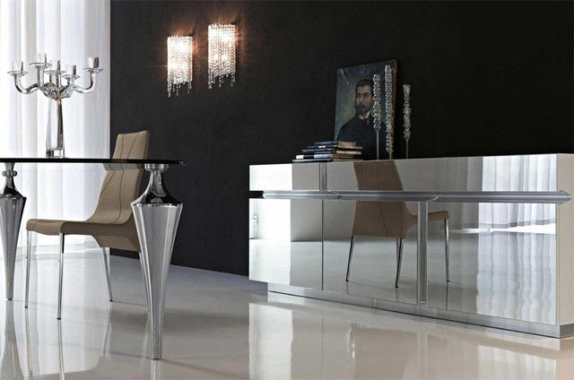 Prisma Mirrored Lacquered Buffet By Cattelan Italia Modern Buffets And Sideboards Ify Inc