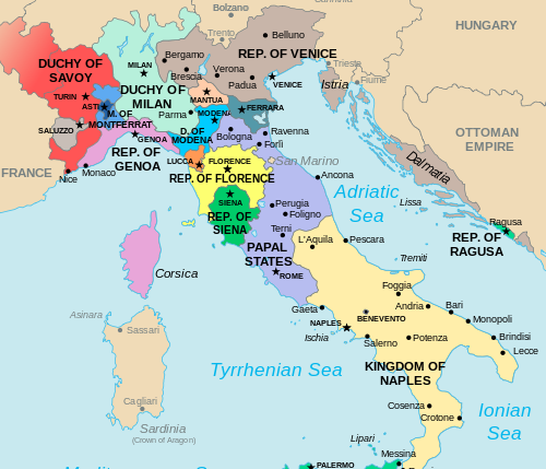 Italy Map 1500.Map Of Renaissance Italy Circa 1500 Assassin S Creed Renaissance
