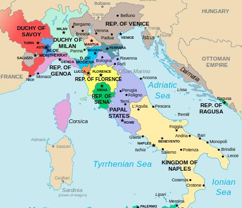 Renaissance Italy Map 1500