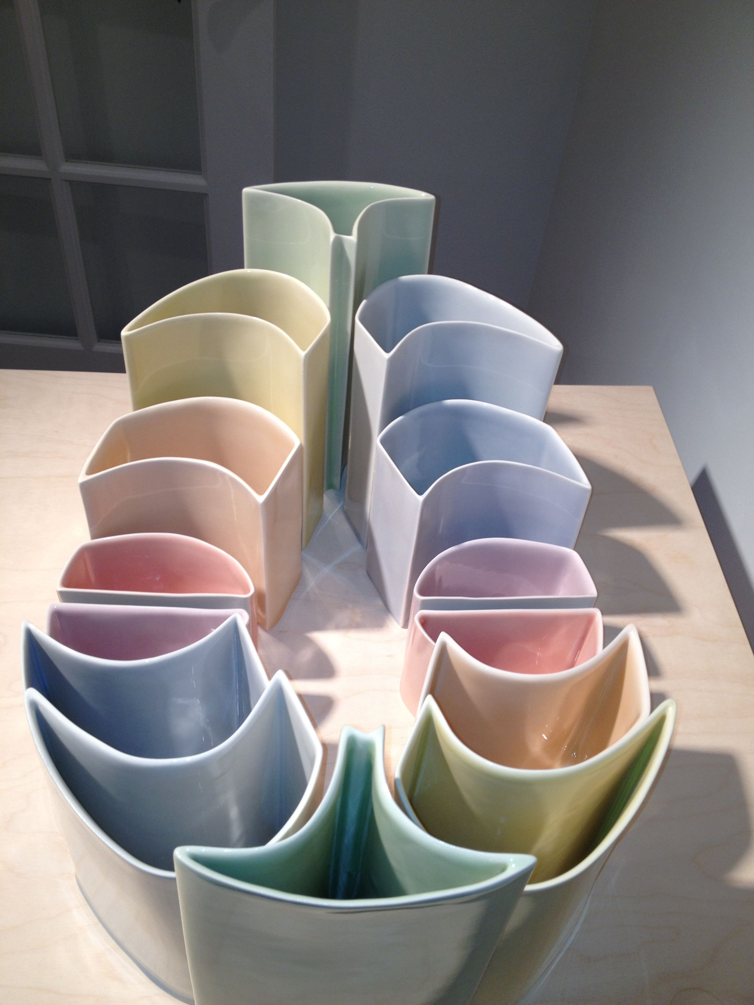 Alfred University Senior Thesis Shows - Porcelain bowls by Heather Mae Erickson