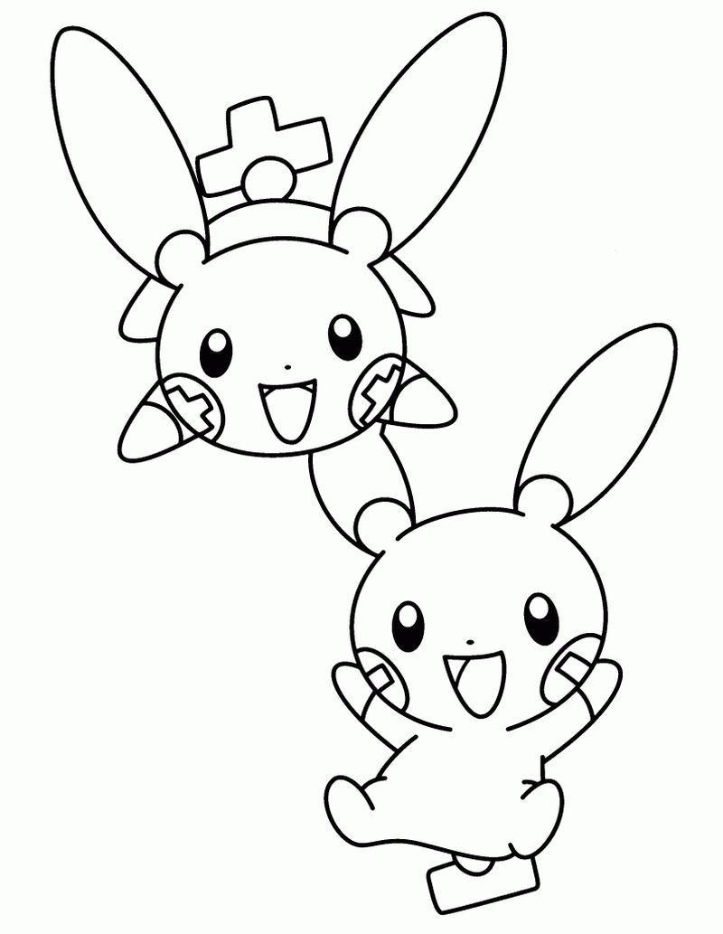 Cool Plus And Minus Pokemon Coloring Pages See More Pictures To