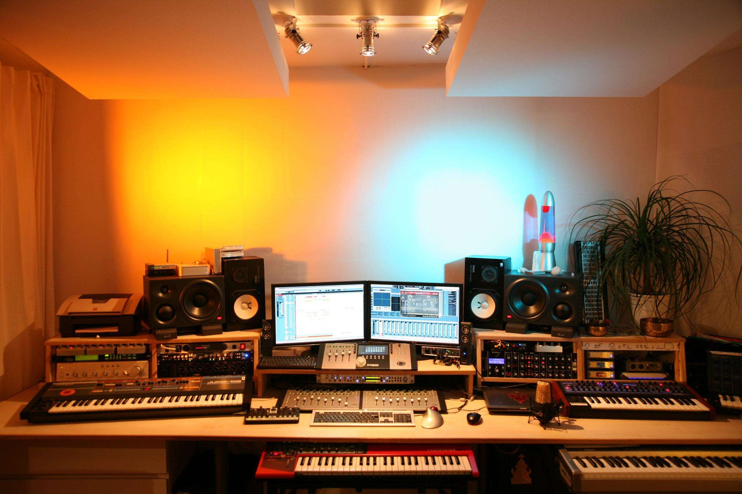 Hd Wallpaper Wallpaper Recording Studio Home Studio Room Studio Desk