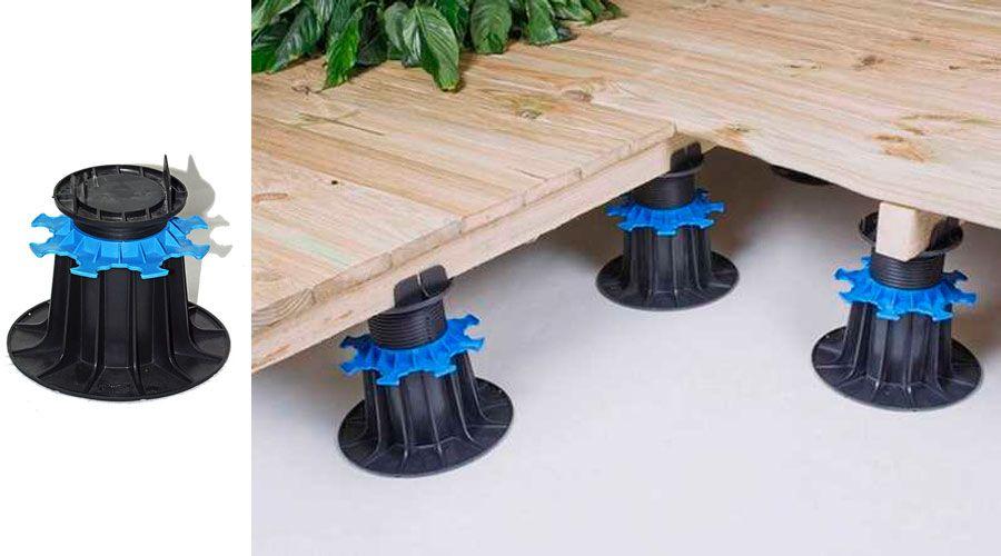 terrasse-bois - accessoire terrasse bois - Plot pvc réglable spécial - terrasse bois sur plots reglables