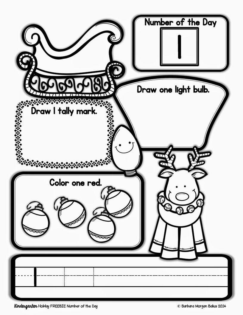 Happy holiday FREEBIE! Math activities preschool